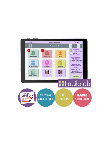 Tablette Facilotab L rubis